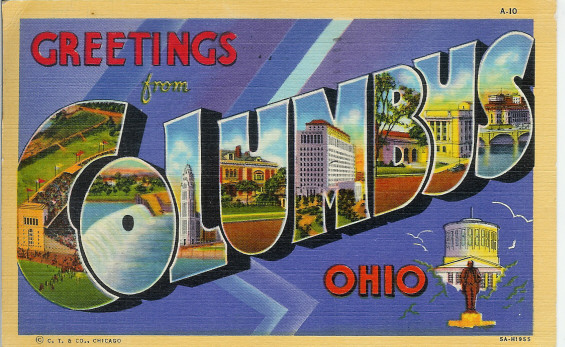 postcard - Greetings from Columbus Ohio